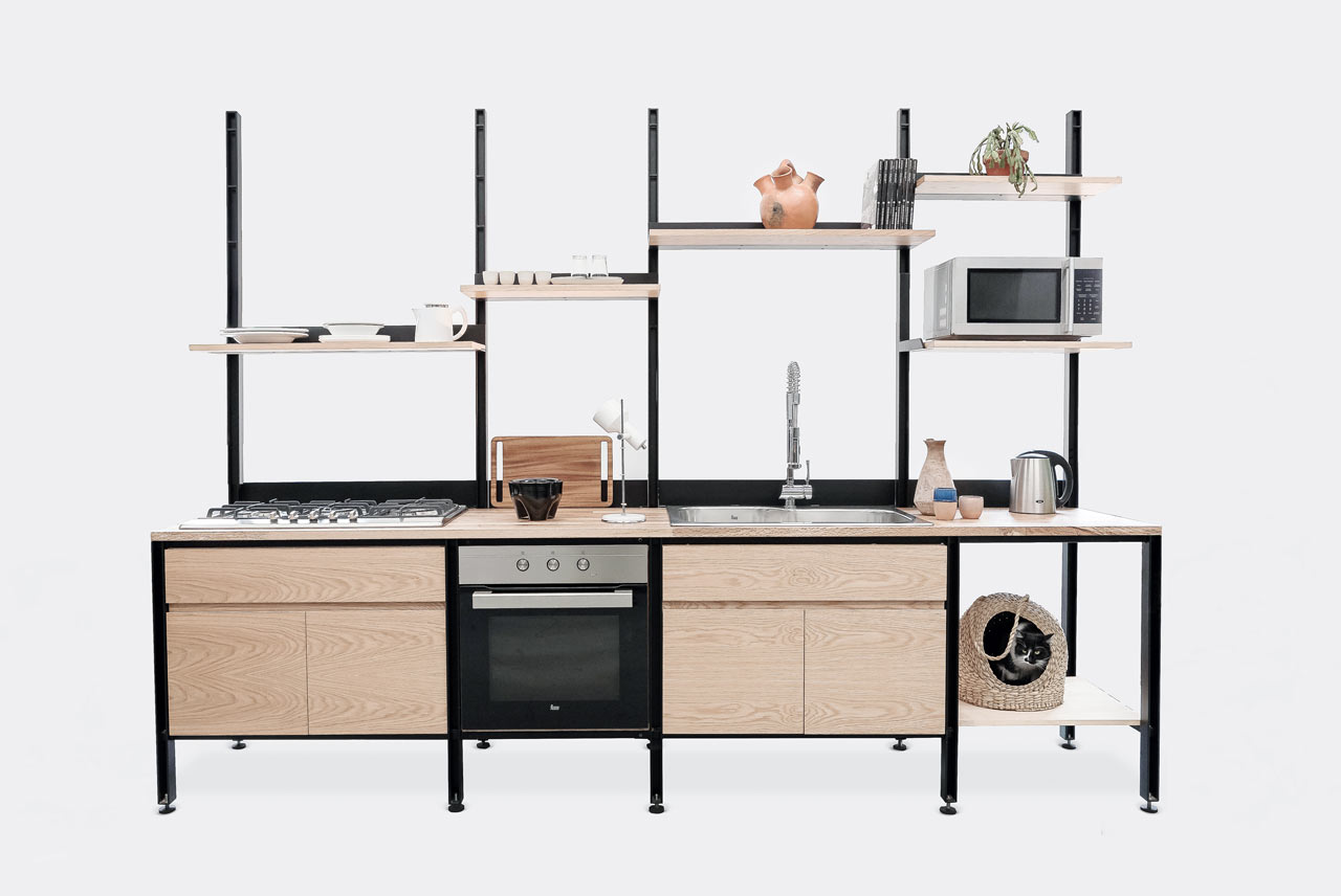 LCMX Designed a Modular Kitchen for Urban Dwellers