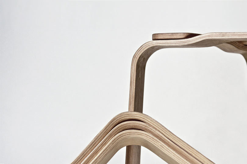 By hiding the magnets the stool gets a seamless look thatu0027s easy to assemble and disassemble when needed. & A Bent Plywood Stool Held Together with Strong Magnets - Design Milk islam-shia.org