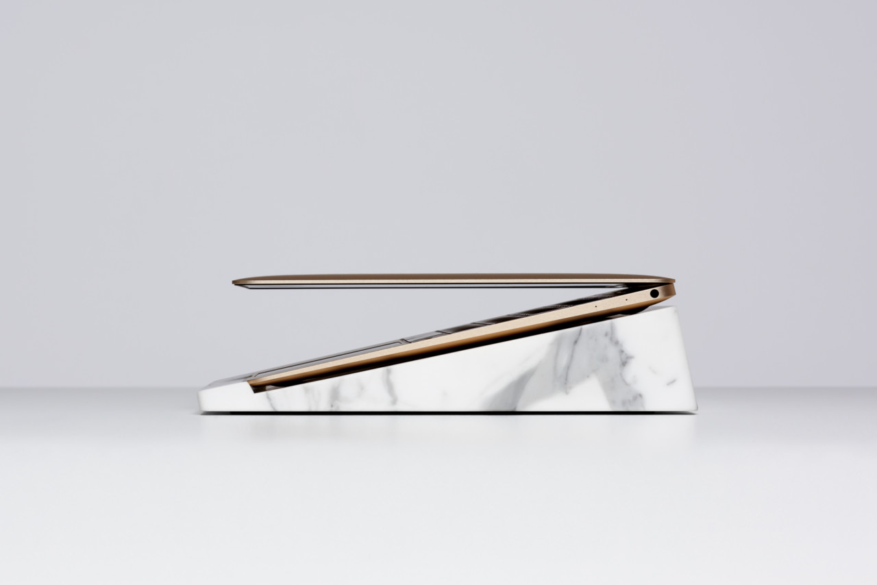 de Dolomieu BLOCK Statuario Marble MacBook Stands