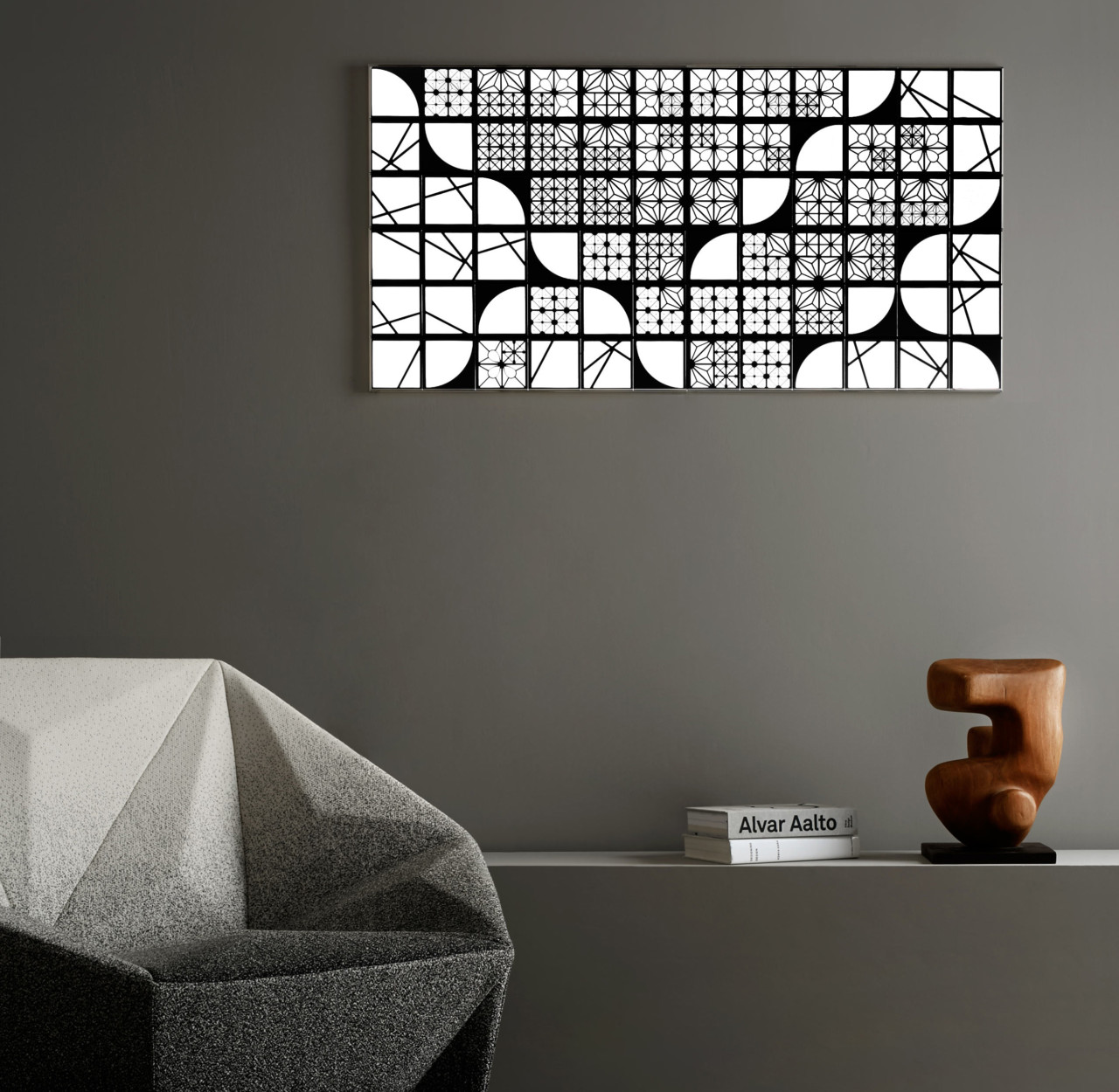 KUMIKO OLED Modular Lighting Turns Off Into a Mirror
