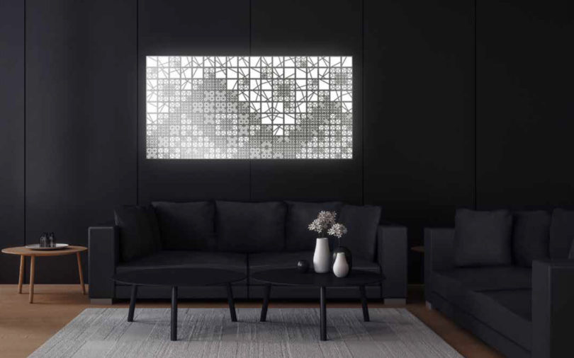 Neither OLED lighting nor modular wall panels are anything novel. Earlier this year Bang u0026 Olufsen unveiled a geometric-spirited take on a wall-mounted ... & KUMIKO OLED Modular Lighting Turns Off Into a Mirror - Design Milk