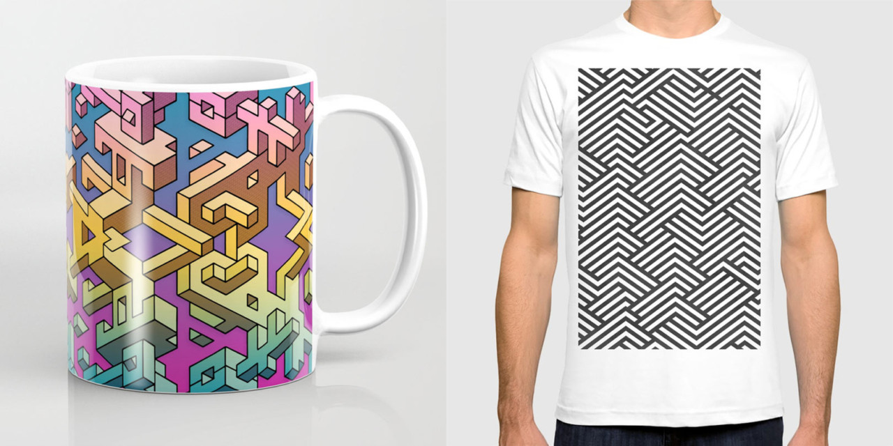 Oddly Satisfying Isometric Art from Society6