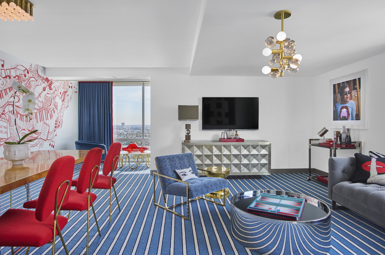 A Rock 'n Roll Chic Hotel Suite That Looks Good and Does Good