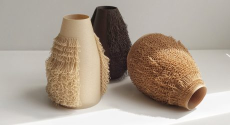 "Poilu Vases Are 3D Printed with Implanted ""Hair"""