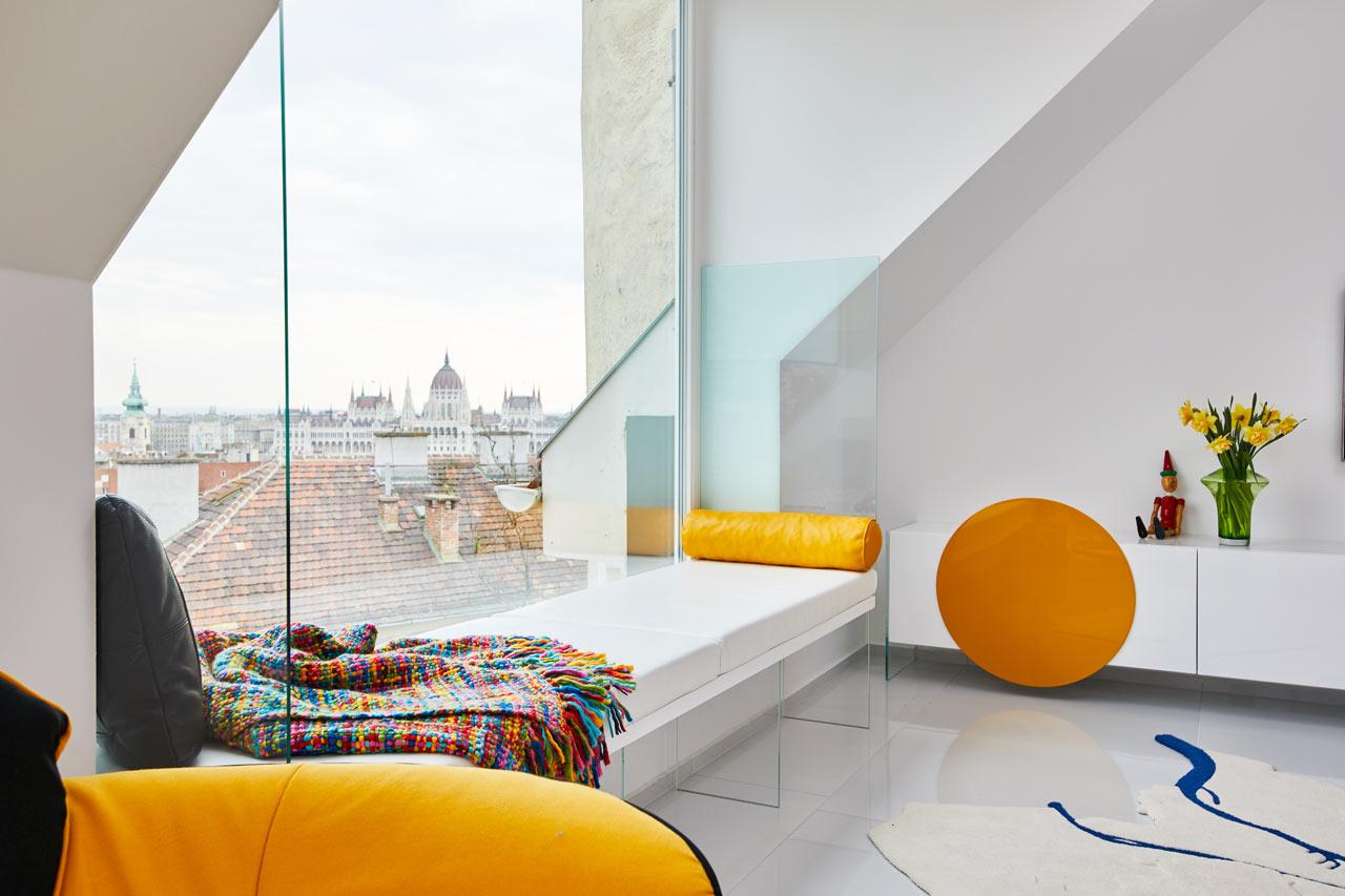 apartment colors. A Budapest Attic Apartment Designed with Primary Colors  Design Milk