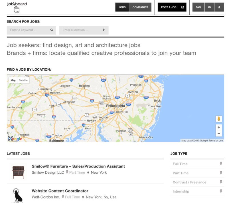 Design Milk Job Board Find a Designer or a New Creative Career