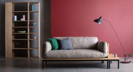 The Wood Framed Legna Sofa is Both Functional and Adaptable