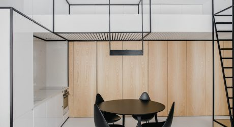 A Modern Apartment in Kraków Organized by Black Frames
