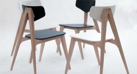 Molletta Chair: A Chair Inspired by Wooden Clothespins by Hagar Bar-Gil