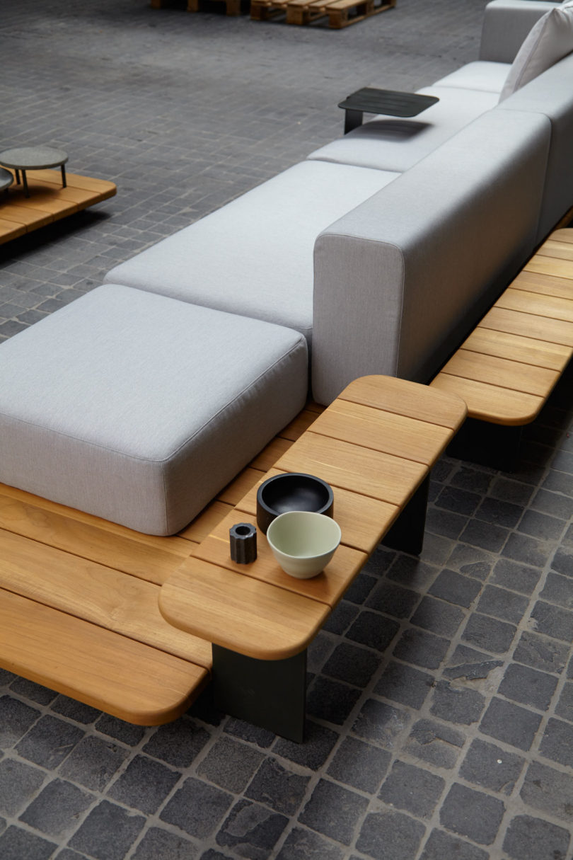 Endless combinations are possible to achieve a cozy  relaxed setup for a modern  outdoor living space. New Outdoor Furniture Collections from POINT   Design Milk