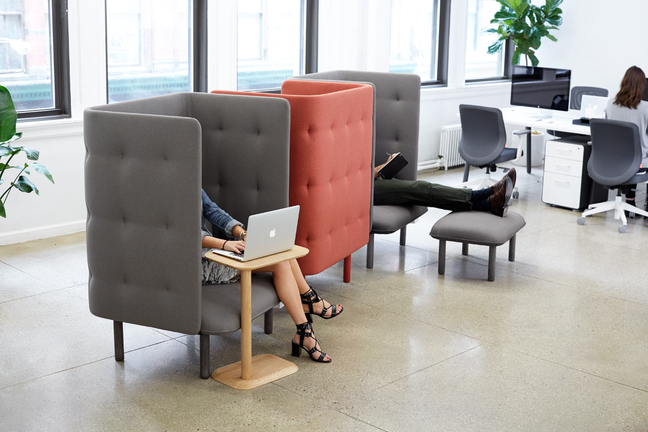 QT Privacy Lounge Chair from Poppin