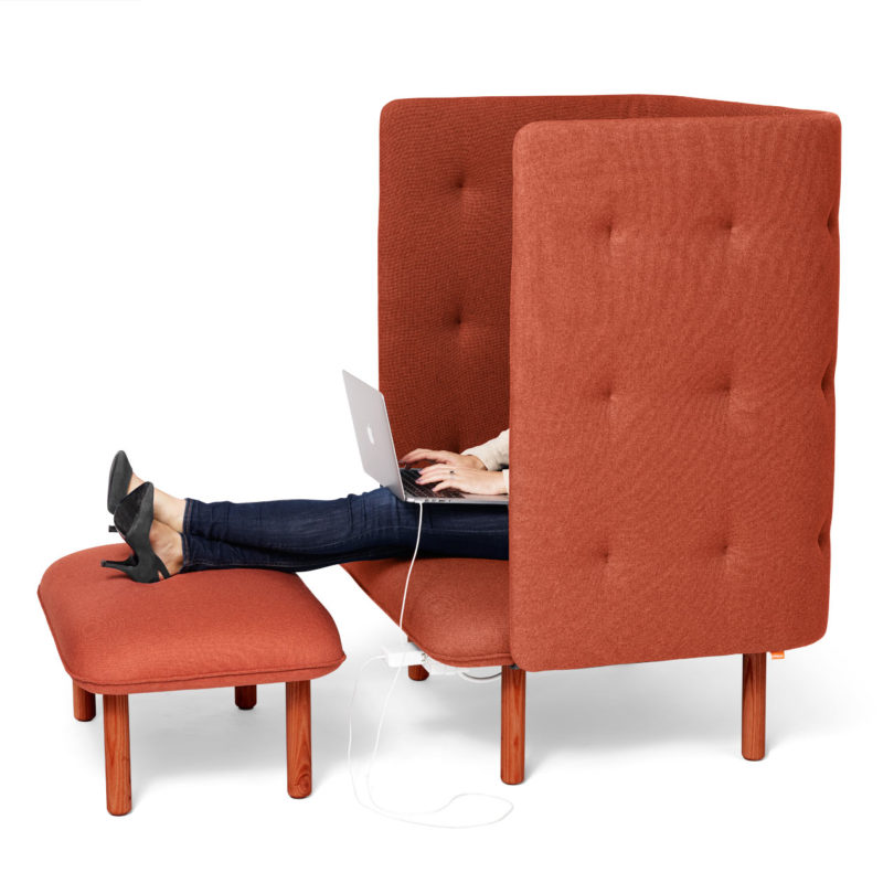 Marvelous Qt Privacy Lounge Chair From Poppin Design Milk Customarchery Wood Chair Design Ideas Customarcherynet
