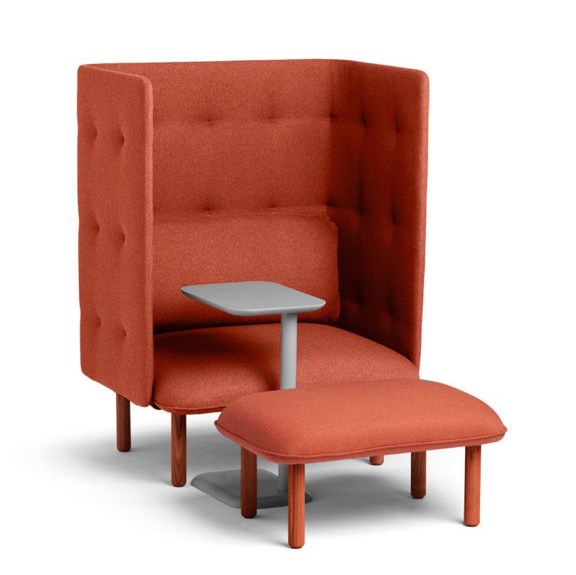 Groovy Qt Privacy Lounge Chair From Poppin Design Milk Customarchery Wood Chair Design Ideas Customarcherynet