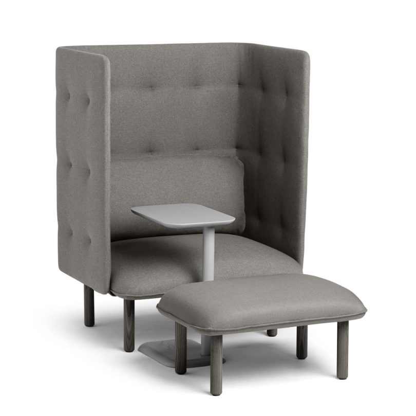 Charmant The QT Privacy Lounge Chair Comes In Gray, Dark Gray, Brick, Dark Blue,  Teal, Leaf Green, And Blush, And Easily Assembles In Seconds Without The  Need For ...