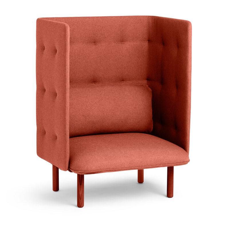 Stupendous Qt Privacy Lounge Chair From Poppin Design Milk Customarchery Wood Chair Design Ideas Customarcherynet