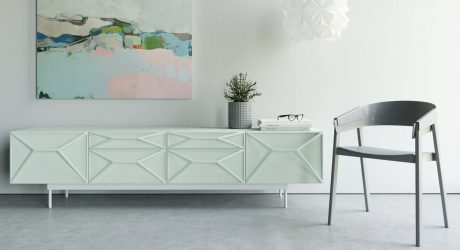 Sideboard Domo Design : Multifunctional sound absorbent screen system for the office
