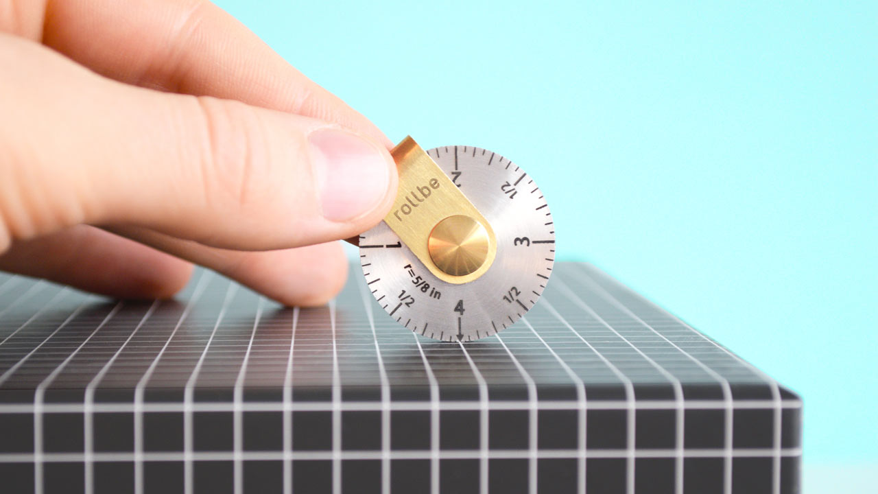 Rollbe: A Super Compact, Stainless Steel Measuring Tool