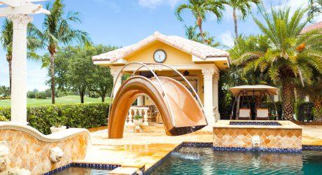 Sleek, Sculptural Water Slides for the Modern Pool