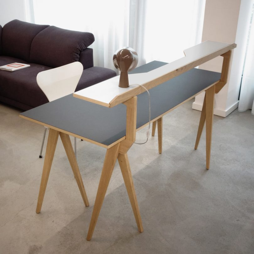 Desk Trestles That Add Another Surface While Looking like a Walking Animal