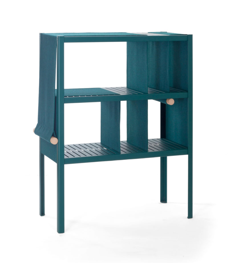 The dressed cabinet incorporates panels of fabric you can for Cloth cabinet design