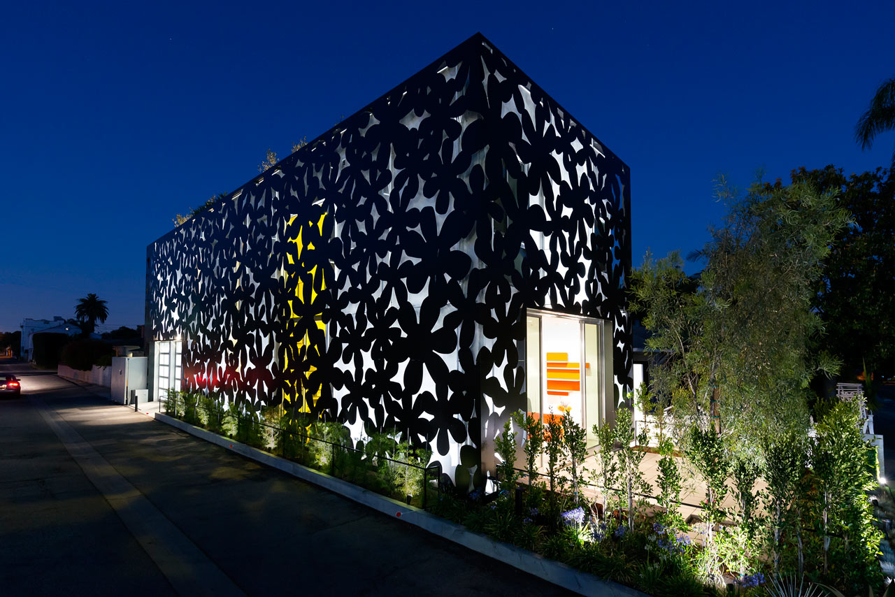 A Venice, California Home Wrapped in Computer Cut Flowers