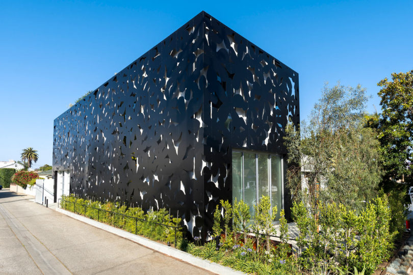 A Venice, California Home Wrapped in Computer Cut Flowers - Design on google sketchup house design, art house design, building structure design, solidworks house design, radiant heating installation and design, 2d house design, box structure design, japanese tea house design, technical drawing and design, architecture house design, cnc house design, engineering house design, autocad 3d design, fab house design, support structure design, house structure design, business house design, manufacturing house design, classic house design, top house design,