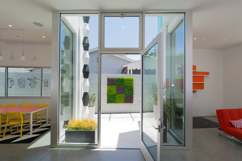 A Venice, California Home Wrapped in Computer Cut Flowers - Design on mountain lodge house design, tunnel house design, portofino house design,