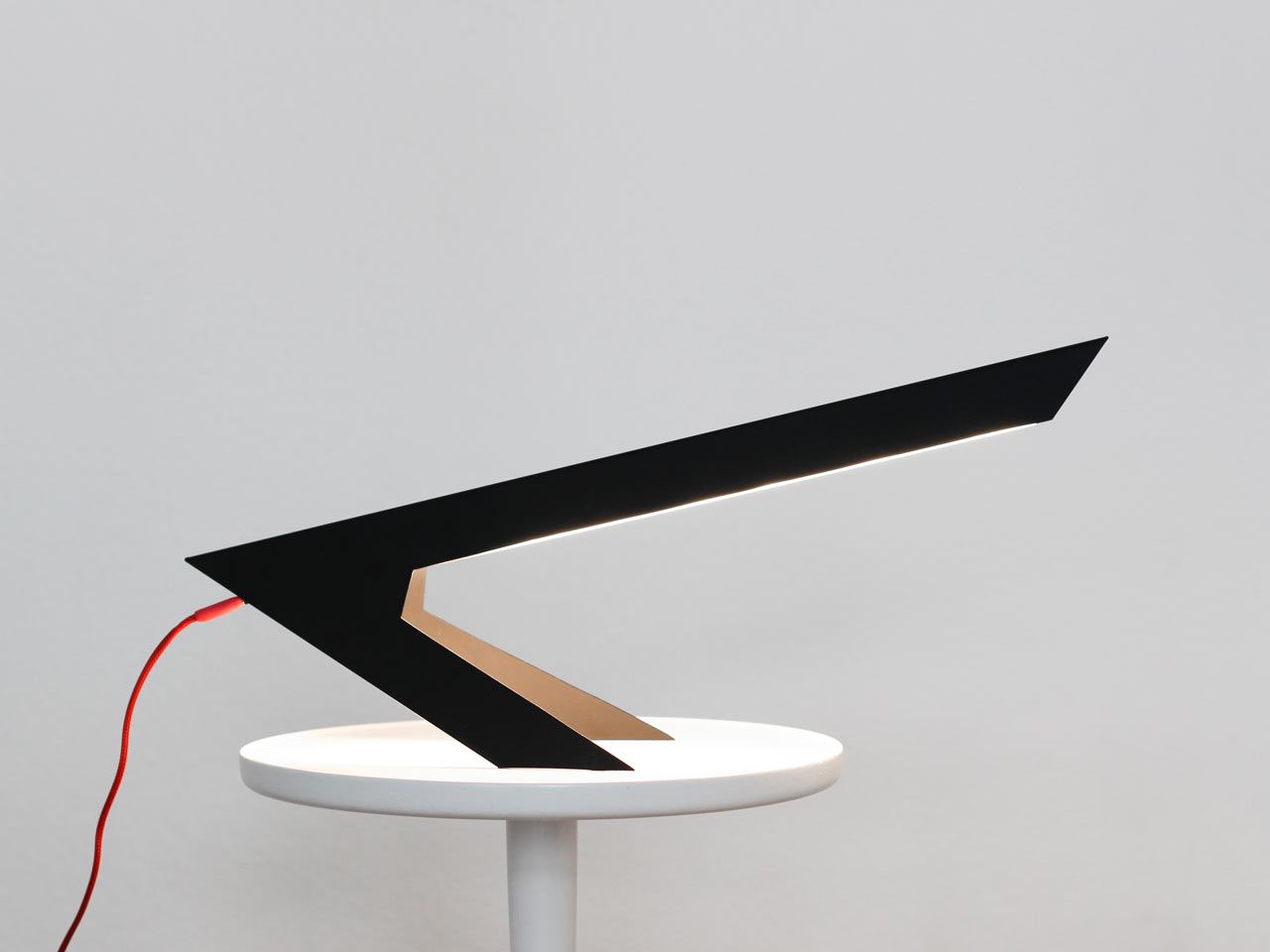 Blackbird Lamp Looks Like an Abstract Bird Perched on Two Feet