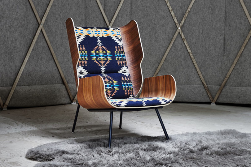 Fabulous Gus Modern X Pendleton Woolen Mills Collaborate On Chairs Lamtechconsult Wood Chair Design Ideas Lamtechconsultcom