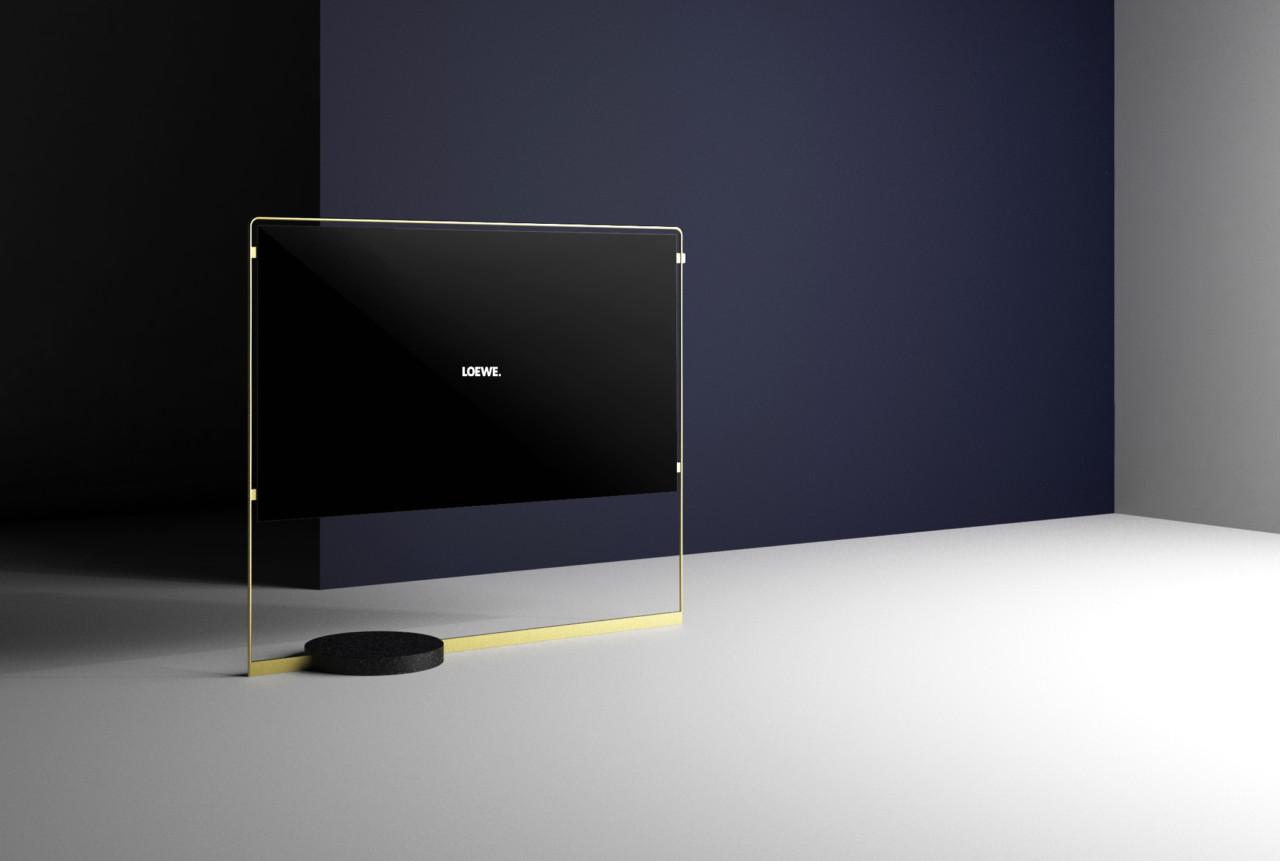 the radically slim and golden loewe bild x oled design milk. Black Bedroom Furniture Sets. Home Design Ideas