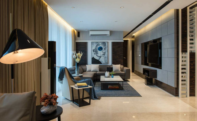 Two Apartments Combined into a Luxurious Family Home in Mumbai