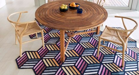 Parquet: Geometric, Puzzle-Like Kilim Rugs by Front for GAN