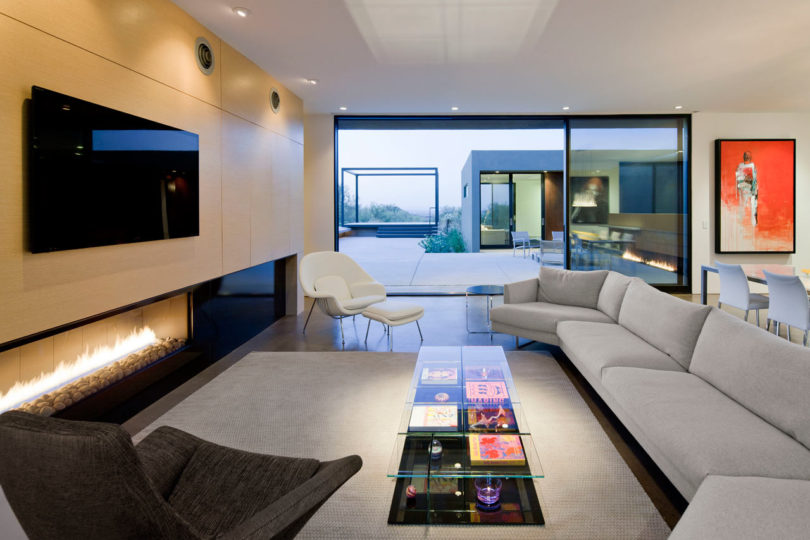 10 Modern Rooms Thoughtfully Designed With The TV In Mind Design Milk