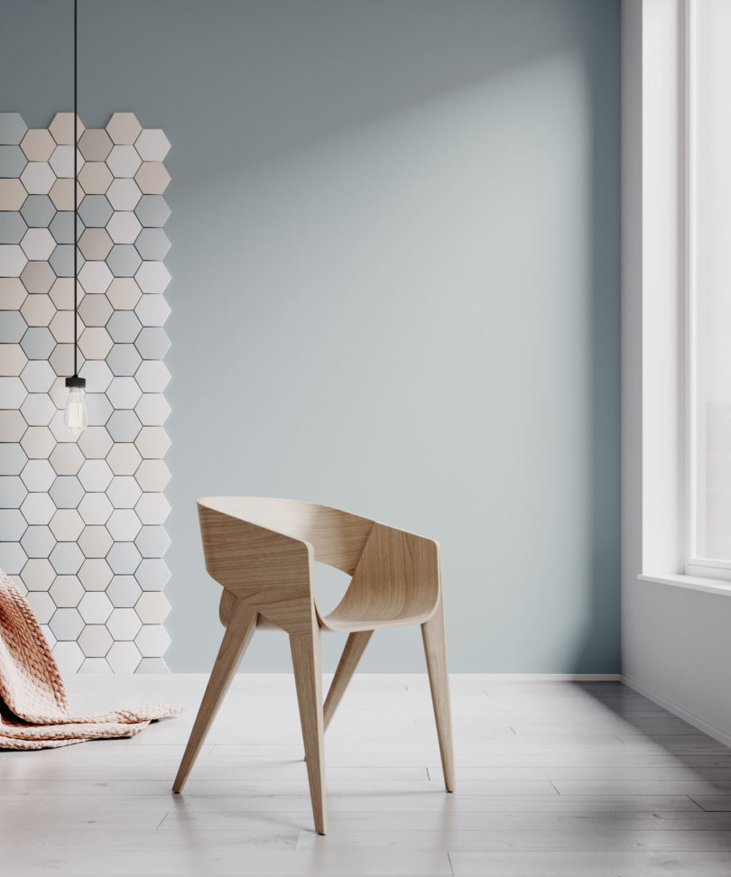 Charmant The Chair Comes In Natural Or Painted Wood Veneered Finish. This Is Also A  Version With Its Seat And Backrest Covered In High Density Foam Thatu0027s Then  ...