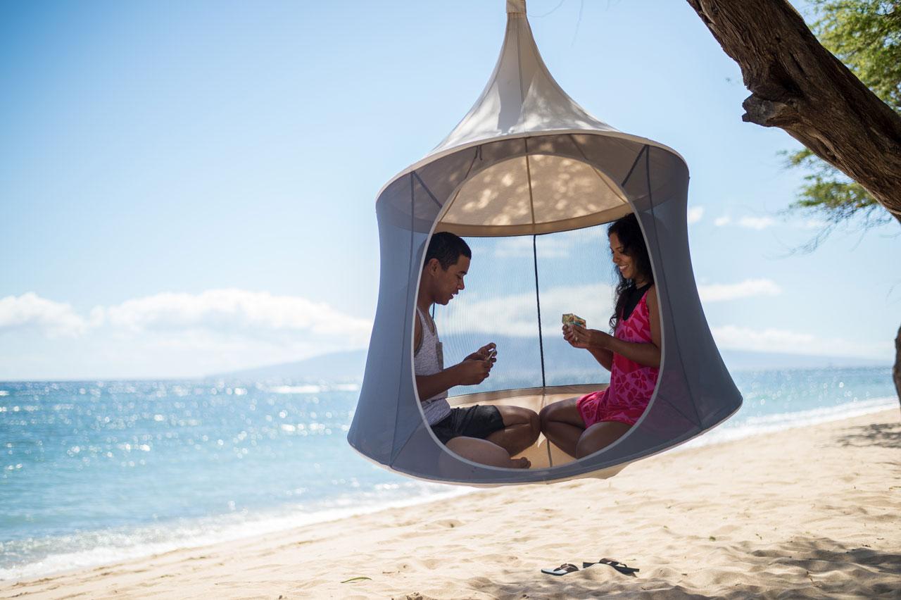 TreePod: A Portable, Hanging, Hammock-Like Cabana