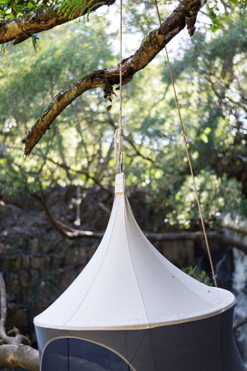 TreePod is running a Kickstarter c&aign which is already successfully funded seeking help to get these made and into your hands so if you want one ... & TreePod: A Portable Hanging Hammock-Like Cabana - Design Milk