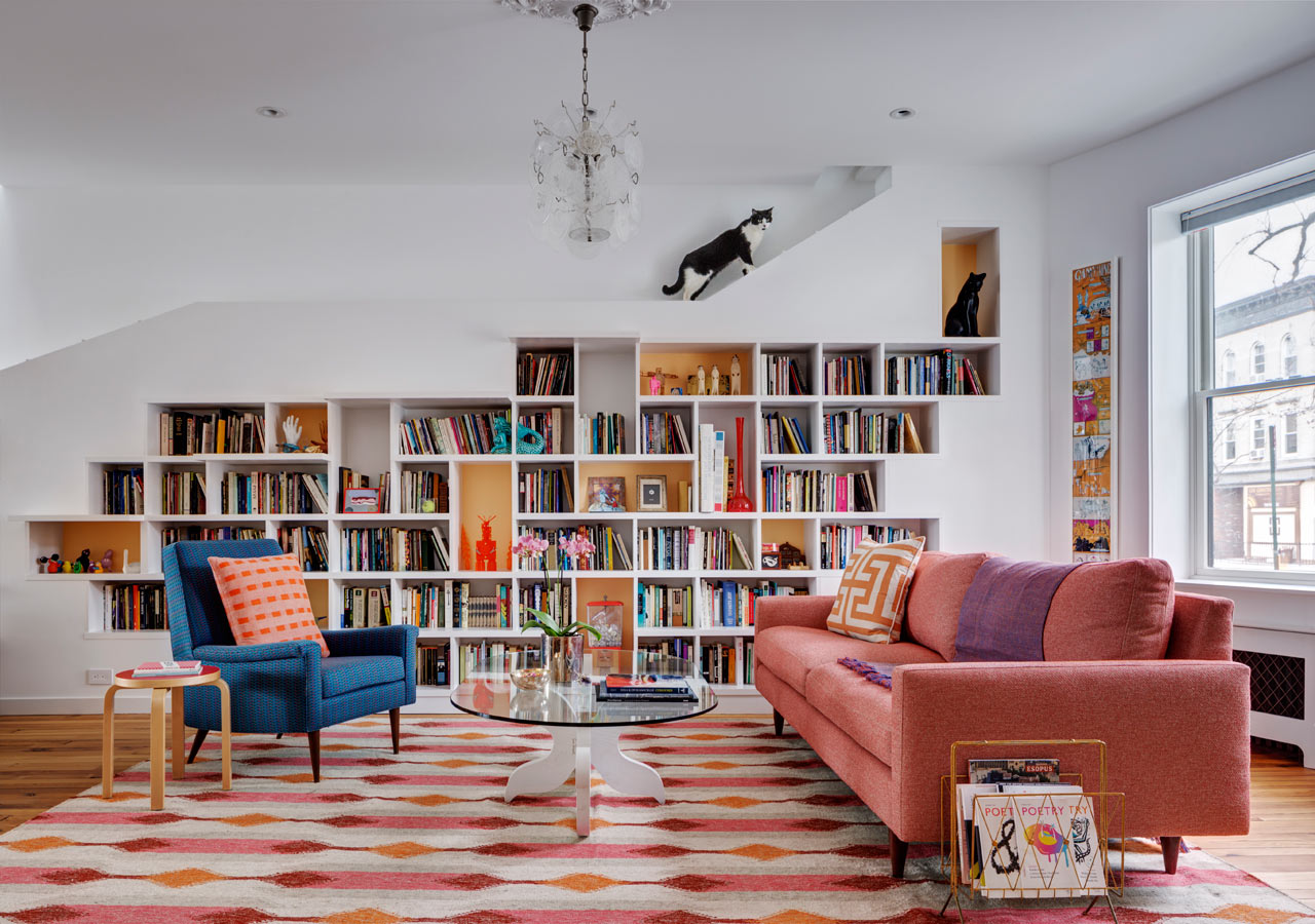 A Brooklyn Row House Designed for Cats and Booklovers