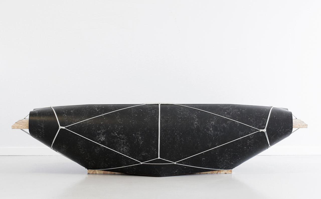Experimental Linoleum Seating by Maarten Kolk and Guus Kusters