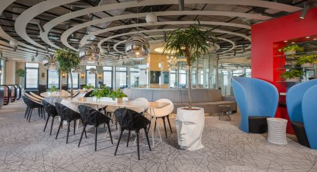 A Modern Tech Office in Latvia Featuring Bold Details and Bright Colors