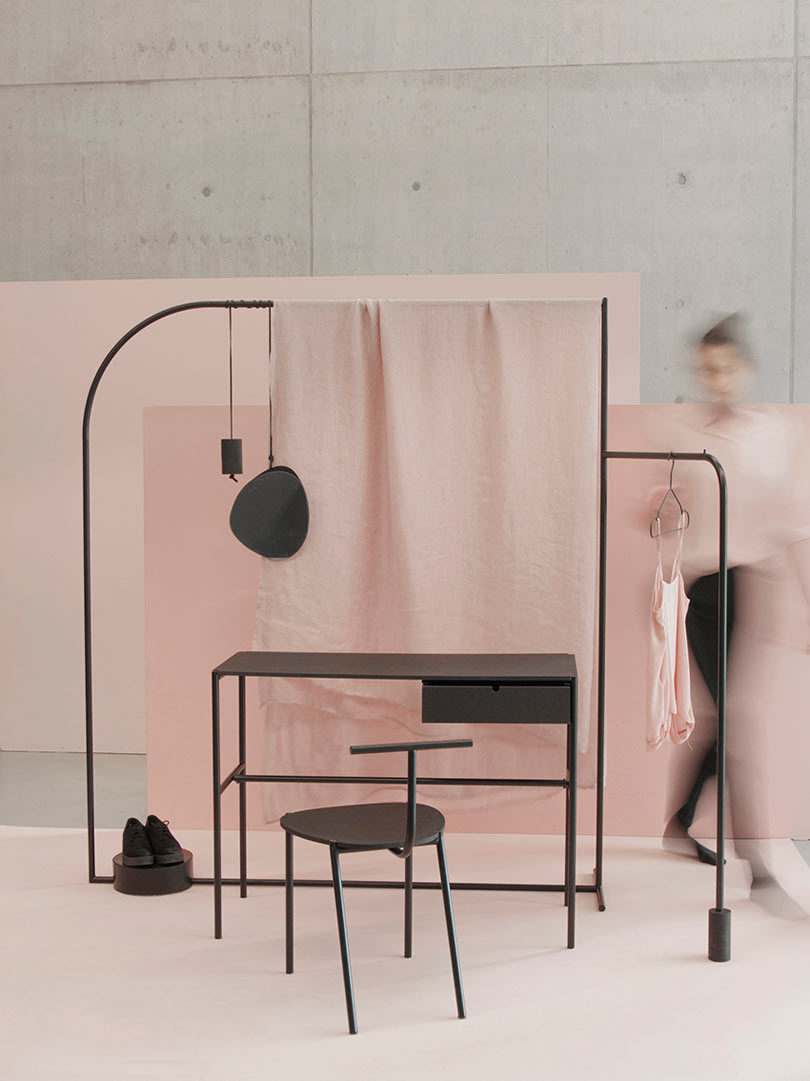 The Design Of The Graphic Pieces Lean Towards Sleek And Linear With Unique  Twists. The Trio Merges Different Materials, Like Powder Coated Steel Pipe,  ...