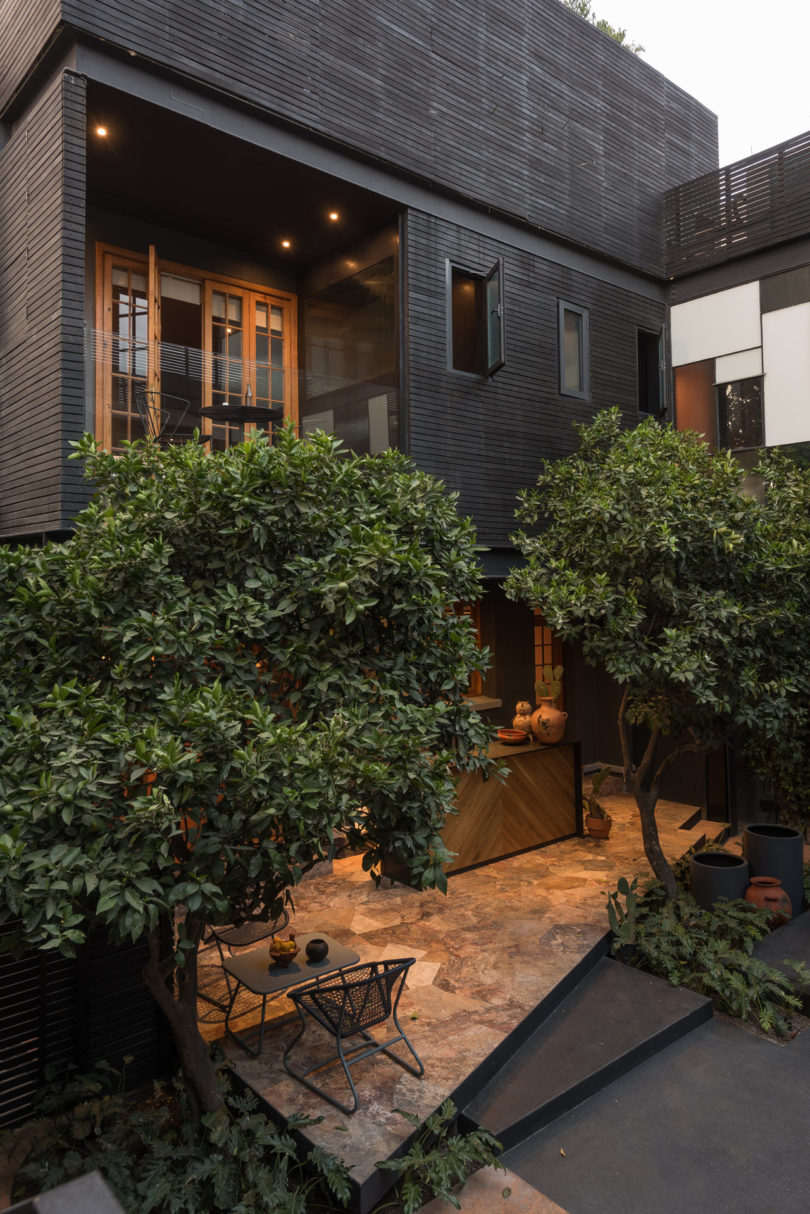 a 1913 mexico city mansion renovation a modern guest house