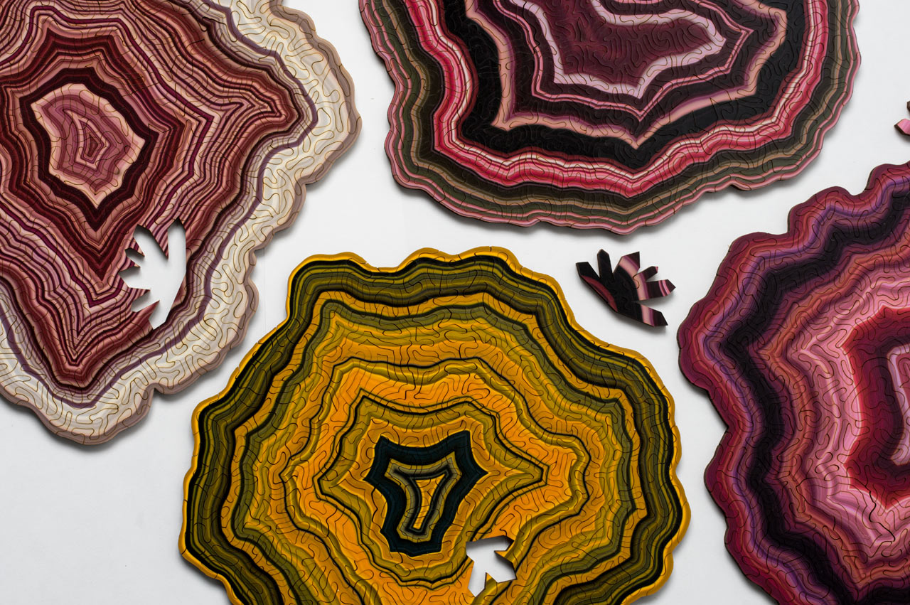 Geode Generative Jigsaw Puzzles by Nervous System - Design Milk