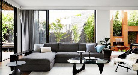 A Contemporary, Monochromatic Home in Melbourne by Sisalla Interior Design