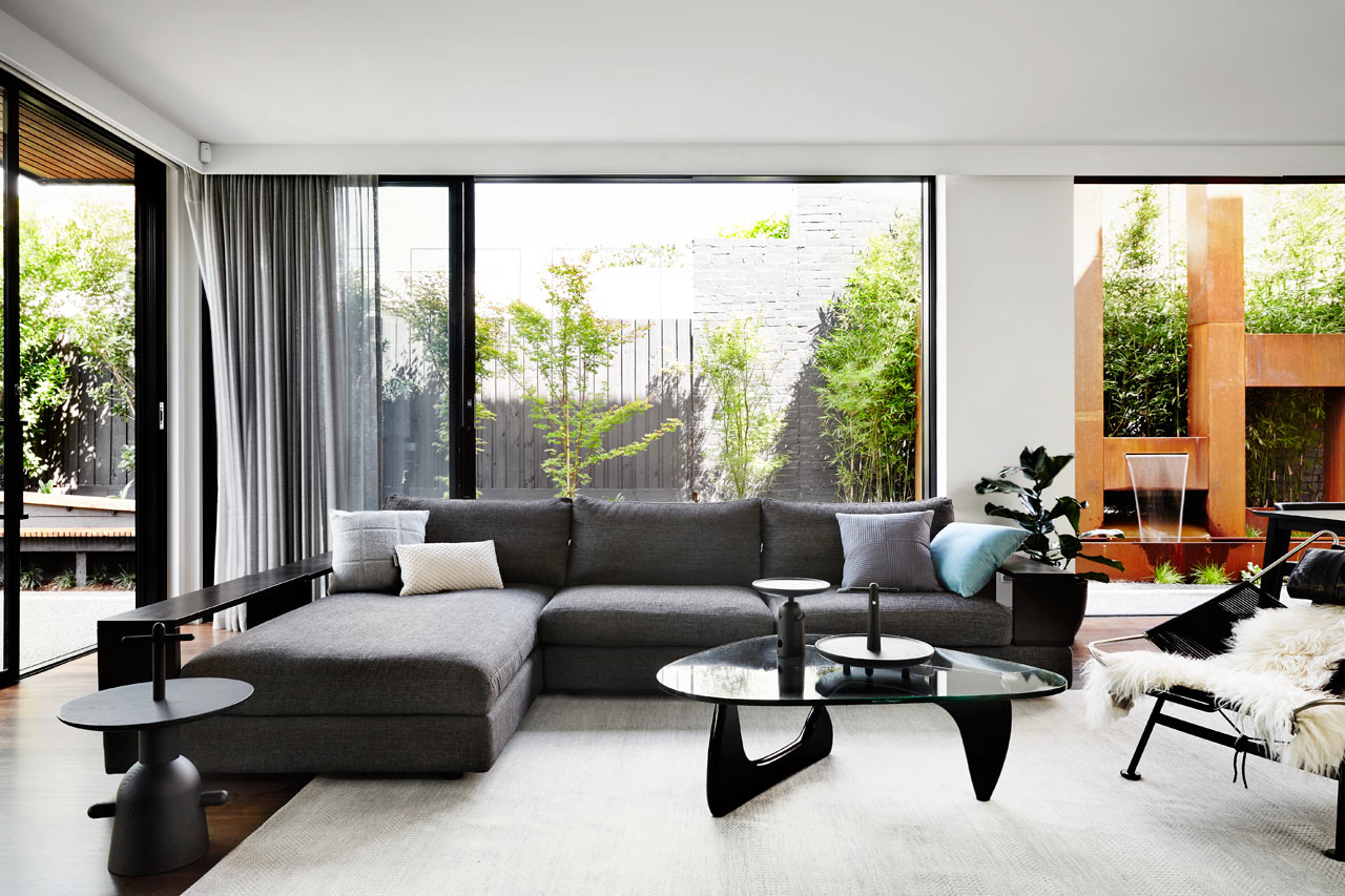 A contemporary monochromatic home in melbourne by sisalla interior design