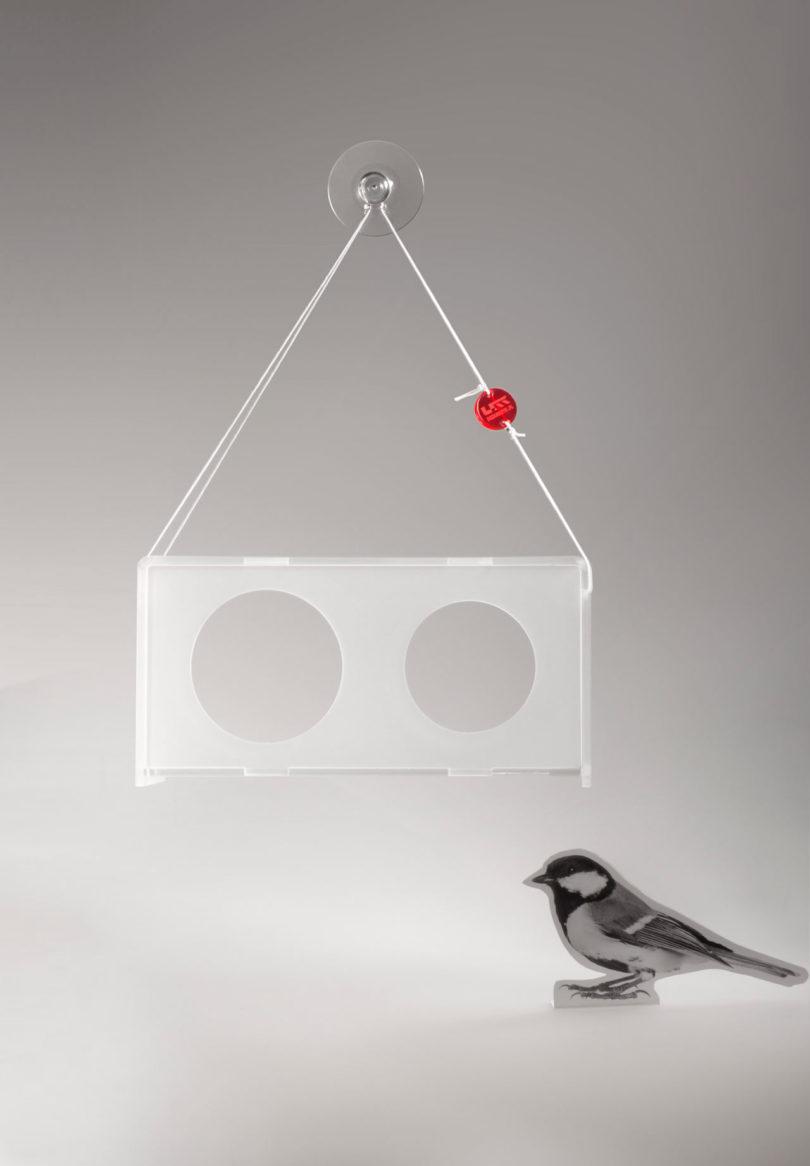 modern acrylic bird feeders by jolanta uczarczyk design milkdesign milk howldb. Black Bedroom Furniture Sets. Home Design Ideas
