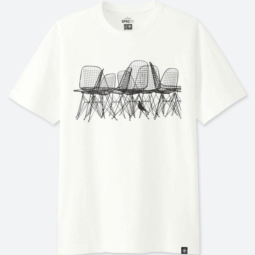Uniqlo launches the sprz ny eames collection design milk for Uniqlo moma t shirt