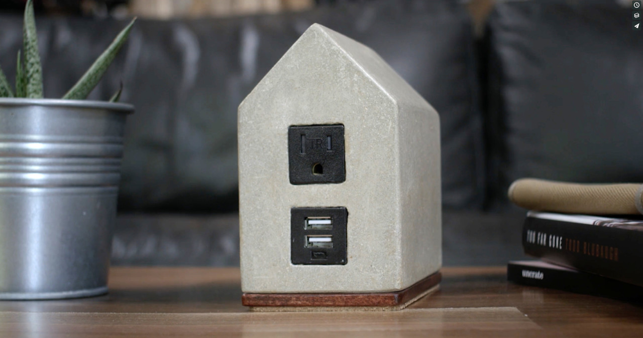 Hand & Craft's Brutalist Concrete and Glamorous Marble Power Supply Kits