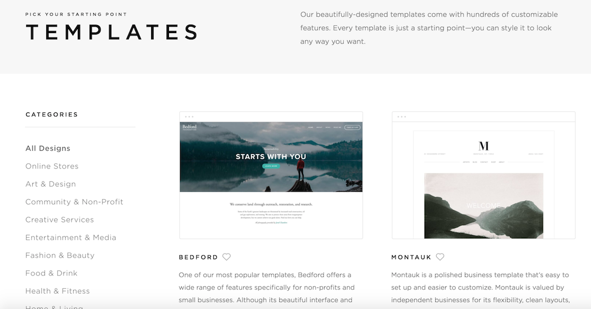 Template Choices: 3 Letterpress Designers on 3 Different Squarespace Templates
