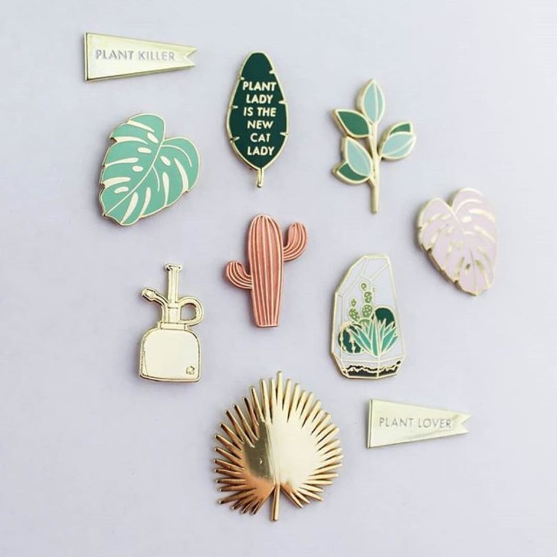 These Enamel Pins By Hemleva Are Calling Our Names (that Top Left One  Specifically/unfortunately). If You Have A Friend Whou0027s Nicknamed The Plant  Lady, ...