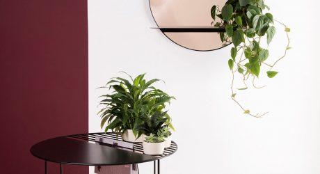 A Plant-Adorned Mirror and Table by Bujnie